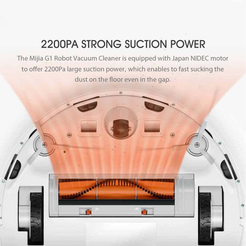 Xiaomi Mijia G1 2 In 1 Robot Vacuum 10
