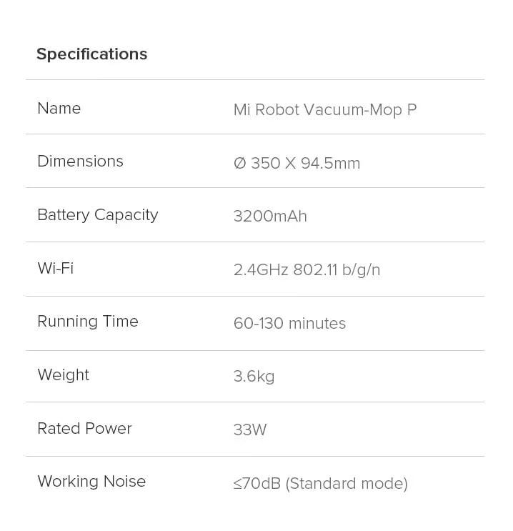 Xiaomi Mi Robot Vacuum Mop Cleaner Pro 13